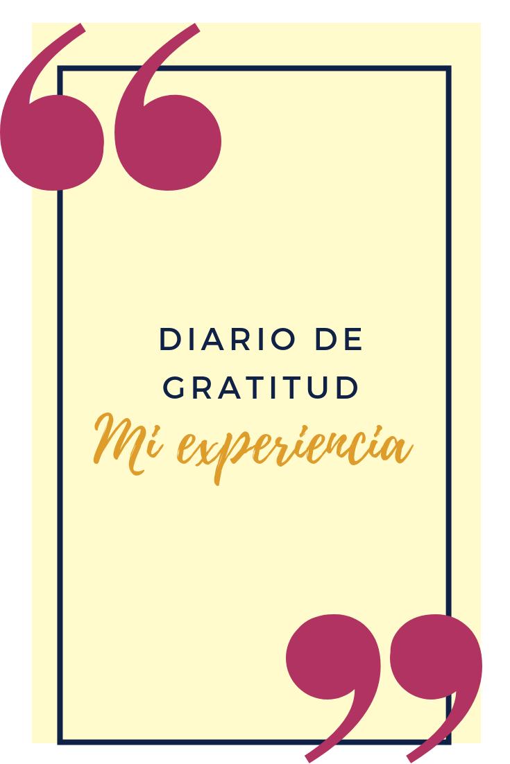 Diario de gratitud: mi experiencia